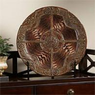 Tiger Print Decorative Plate & Stand