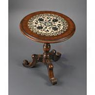 Tiled Round Accent Table