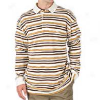 Timberland Striped Beige Long Sleeved Polo Shirt