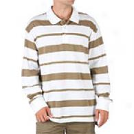 Timberland Striped Long Sleeve Polo Shirt