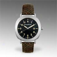 Tommy Bahama Mens Brown Leather Grey Dial Watch