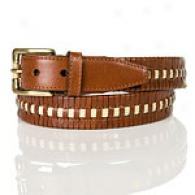 Tommy Bahama Wrapsody Mens Cognac Leather Belt