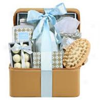 Touch Of Elegance Lilly & Lotus Bath Gift Basket