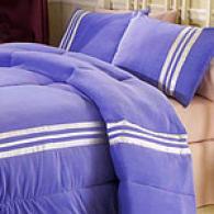 Track Star Purple Comforter & Sham Swt