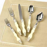 Tracy Porter Calyx Baroques Ivory 5pc Flatware Set