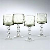 Tracy Porter Etched Dark Sage Goblet Set