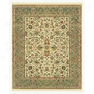 Traditional Beige And Sage Hand-knotted Wool Rug