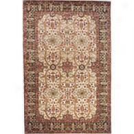 Traditional Ivory Hand Tufted Wool Rug