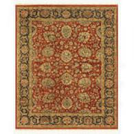 Traditional Red And Charcoal Hand-knotted Wool Rug