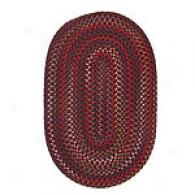 Orally transmitted Red Variegated Oval Braid Rug