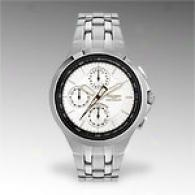 Triumph Mens Stainless Steel Silver Chronograph