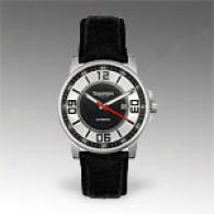 Triumph Motorcycles Mens Automatic Leather Watch