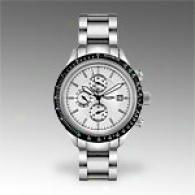 Triumph Motorcycles Mens Stainless Steel Chrono