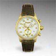 Triumph Motorcycles T100 Yellow Gold Plated Watch