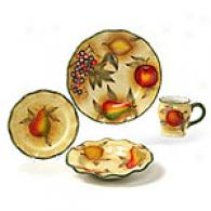 Tuscan Fruit Open Stock Dinnerware - Sets Of 8