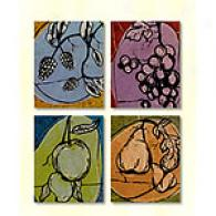 Tuscan Orchard Set Of 4 Outdoor Canvas Prints