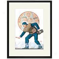 Umpire 12 X 16 Framed Print By Alan Foster