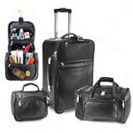 U.s. Traveler Koskin Leather 3pc Luggage Set
