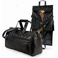 U.s. Traveler Leather 2-in-1 Carry-on Duffel Bag