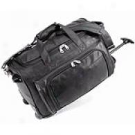 U.s. Traveler Leather Carry-on Rolling Duffel Bag