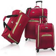 U.s. Traveler Milano 3pc Spider Luggage Set