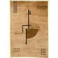Valencia Beige Key West Hand-knotted Wool Rug