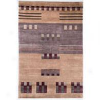 Valencia Gild/mushroom Metro Hand-knotted Wool Rug