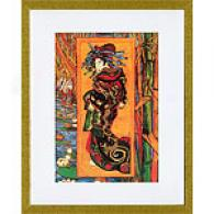 Van Gogh Japonaiserie Orian Framed Print