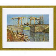 Van Gogh Langlois Bridge At Arles With Women Print