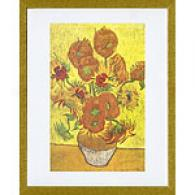 Van Gogh Vase With Fourteen Sunflowers 17in X 23in