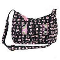 Vera Bradley Pink Elephant Libby Shoulder Bag