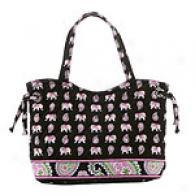 Vera Bradley Pink Elephants Sherry Tote