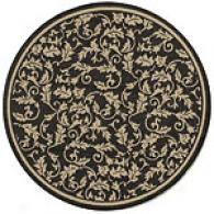 Verona Black Round Indoor/outdoor Rug
