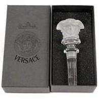Versace By Rosenthal Crystal Medusa Bottle Stopper