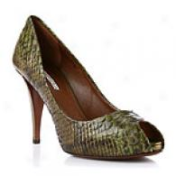 Via Spiga Query Spruce Snakeskin Embossed Pump