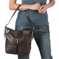 Via Spiga Talia Dark Brown Leather Hobo