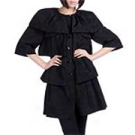 Walter Black Tiersd Cotton Blennd Coat