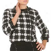 Walter Black & White Wool Blend Tweed Jacket