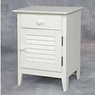 Watch Hill White 1 Drawer 1 Door Nightstand
