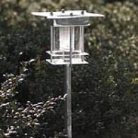 Wavy Top Stainless Steel Solar Light