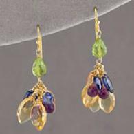 Wendy Mink Cool Tones Cluster Earrings