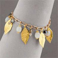 Wendy Mink Gold Leaf Bracelet