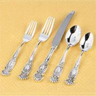 eWssex 20pc Silver-plated Flatware Attitude