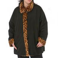 Womens Marvin Richards Reversible Leopard Coat