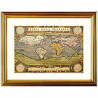 World Map Framed Print By Ortelius, C. 1600
