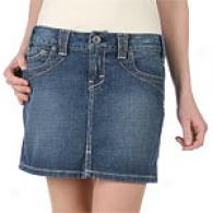 Yanuk Medium Wash Denim Mini Skirt
