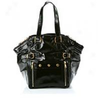 Ysl Black Patent Downtown Carry