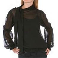 Yuka Sheer Long Sleeve Blouse