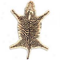 Zebra Shape Wool Rug