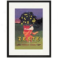 Zeste Framed Print By Leonetto Cappiello
